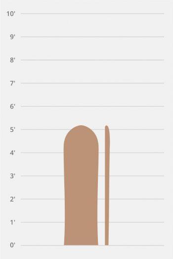 "Corky Alaia 4'11""-5'8″"