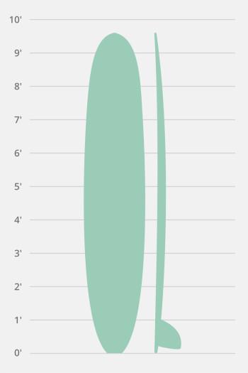 Hollow Wooden Longboard Classic 9'6″-10'0″