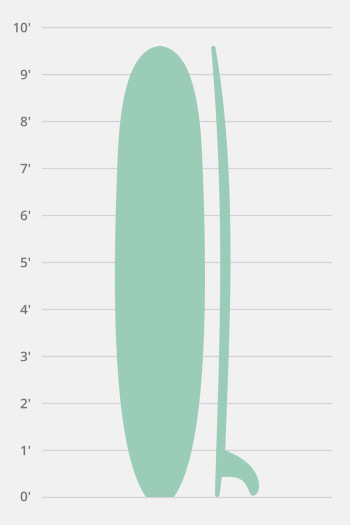 Hollow Wooden Longboard Noserider 9'3″-10'0″