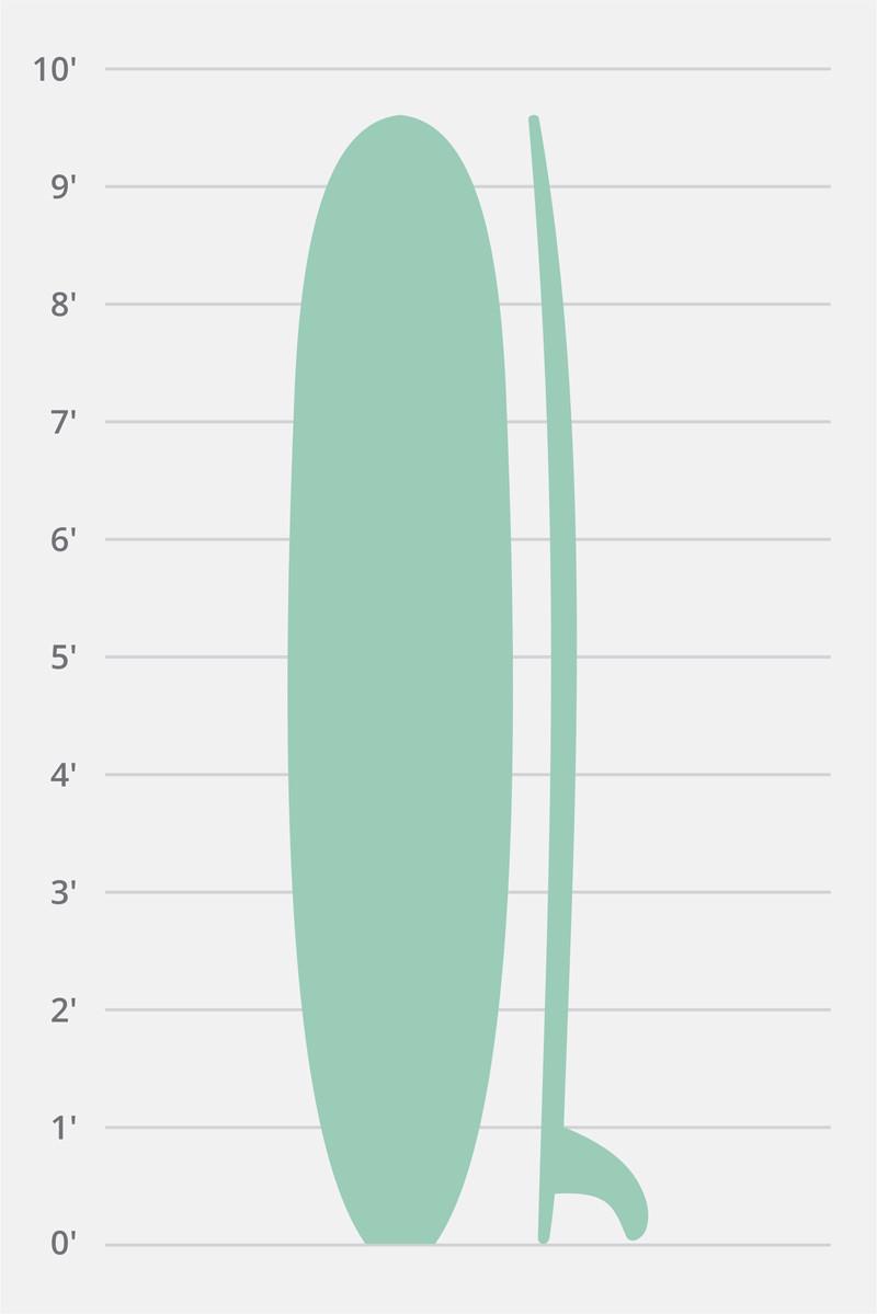 Longboard Noserider Siebert Surfboards
