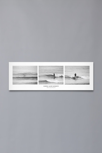 "Poster ""Surfing Alone Moments"" (91×30)"