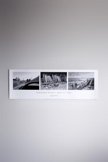 """Poster """"Surfrider Beach, 1960"""" (91×30)"""